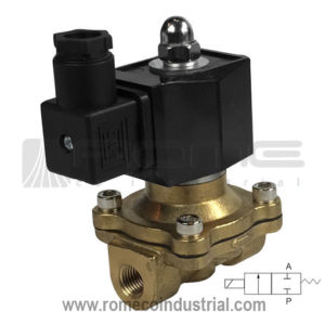 VALVULA SOLENOIDE 2W BRONCE TIPO ASCO 1/4