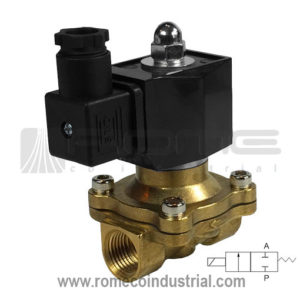 2W VALVULA SOLENOIDE AGUA AIRE ACEITE 1/2 2W BRONCE