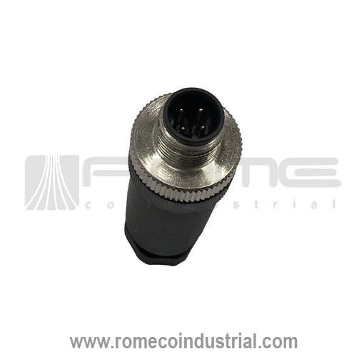 CONECTOR RECTO M12 PIN